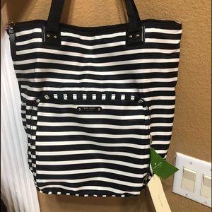Kate Spade Black & White Striped Purse
